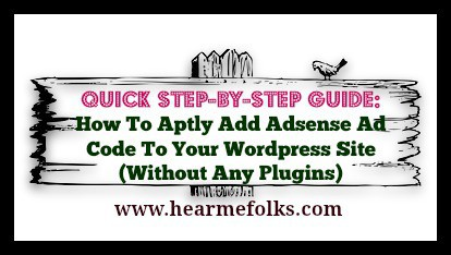how to add adsense ad code to wordpress