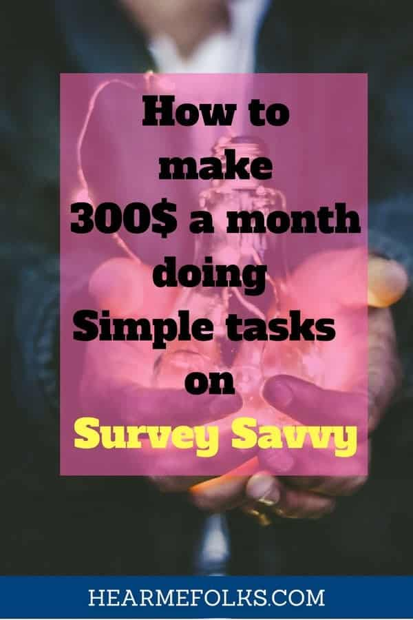 how to make extra money on the side doing simple tasks with survey savvy