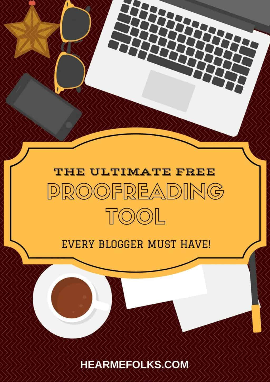 Online proofreading tool or