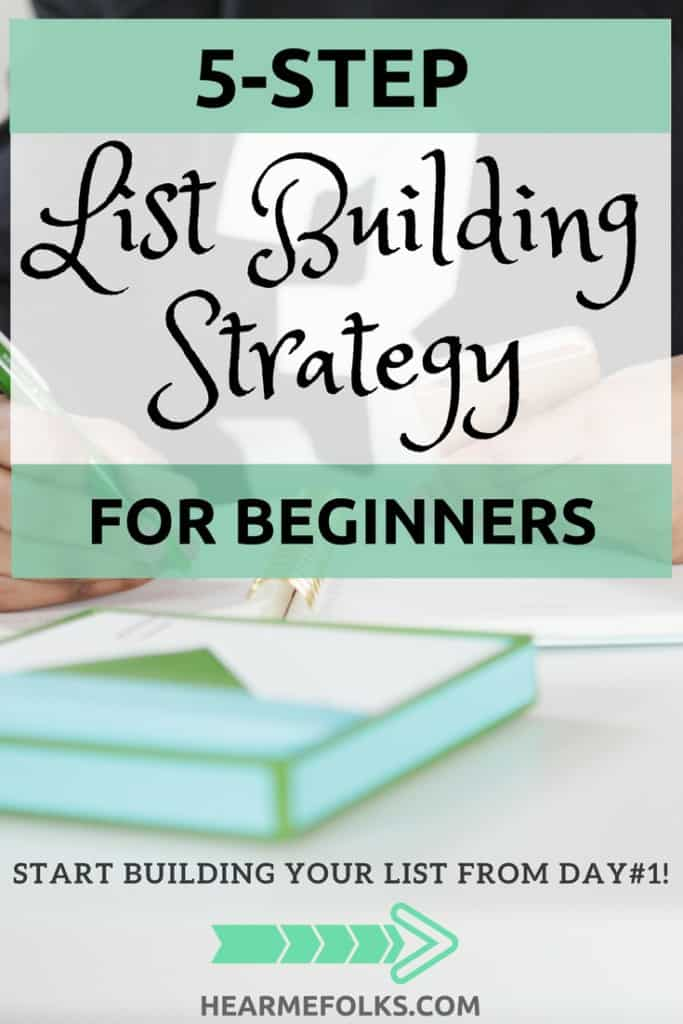 Have you started building your email list? Take advantage of this 5-step guide for ultimate List Building strategies for beginner bloggers, that will grow your email list. Get more blog subscribers. with this email list tips