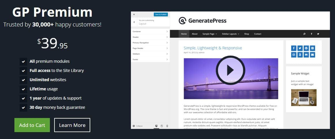 alternative to vi themes is generatepress premium theme